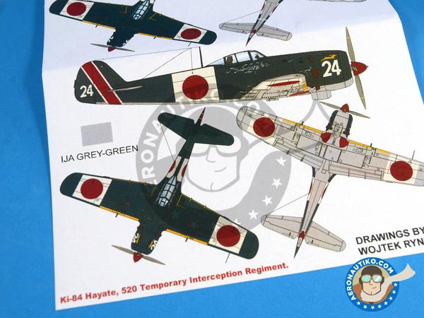 Image 2: Nakajima Ki-84 Hayate | Masks in 1/32 scale manufactured by Montex Mask (ref.K32034)