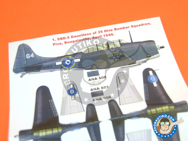 Image 3: Douglas SBD Dauntless 5 | Masks in 1/32 scale manufactured by Montex Mask (ref. K32113)