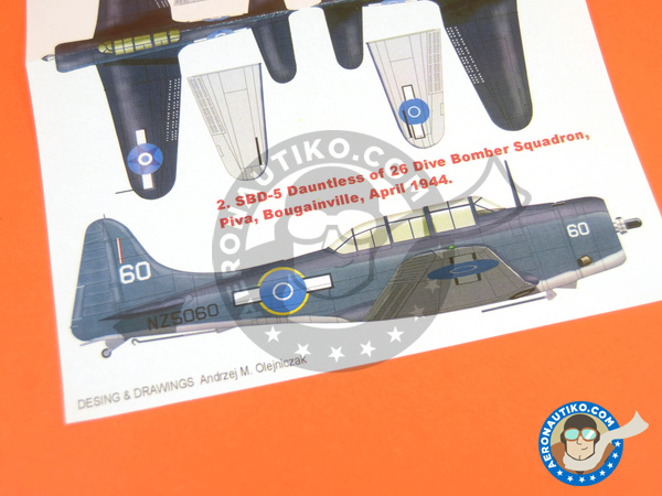 Image 4: Douglas SBD Dauntless 5 | Masks in 1/32 scale manufactured by Montex Mask (ref. K32113)