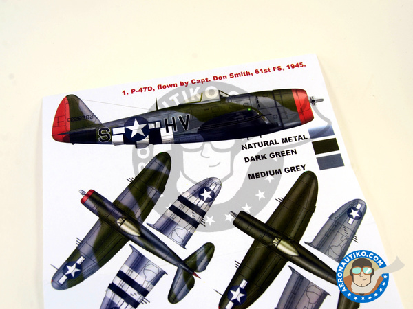Image 4: Republic P-47 Thunderbolt D | Masks in 1/32 scale manufactured by Montex Mask (ref. K32117)