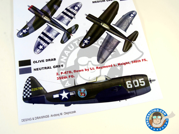 Image 5: Republic P-47 Thunderbolt D | Masks in 1/32 scale manufactured by Montex Mask (ref. K32117)