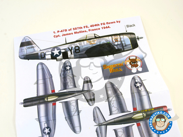 Image 3: Republic P-47 Thunderbolt D Bubbletop | Masks in 1/32 scale manufactured by Montex Mask (ref. K32118)