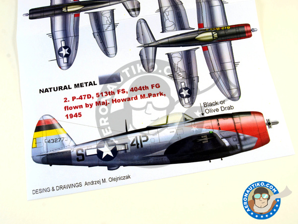 Image 4: Republic P-47 Thunderbolt D Bubbletop | Masks in 1/32 scale manufactured by Montex Mask (ref. K32118)