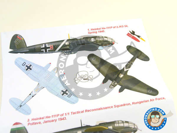 Image 5: Heinkel He 111 P-1   Masks in 1/32 scale manufactured by Montex Mask (ref.K32228)