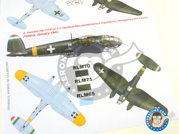 Image 6: Heinkel He 111 P-1   Masks in 1/32 scale manufactured by Montex Mask (ref.K32228)