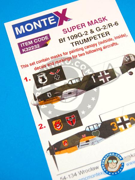 Messerschmitt Bf 109 G-2 | Masks in 1/32 scale manufactured by Montex Mask (ref.K32232) image