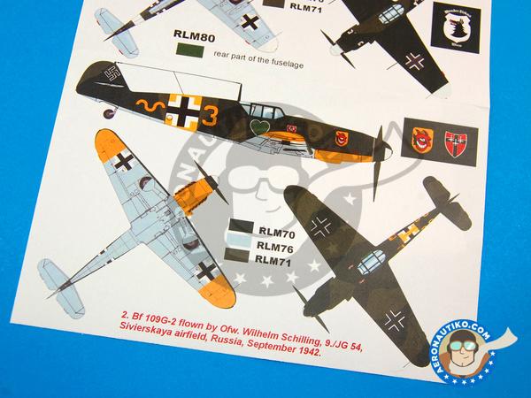 Image 6: Messerschmitt Bf 109 G-2 | Masks in 1/32 scale manufactured by Montex Mask (ref.K32232)