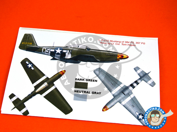 Image 3: North American P-51 Mustang D | Marking / livery in 1/32 scale manufactured by Montex Mask (ref. K32309)
