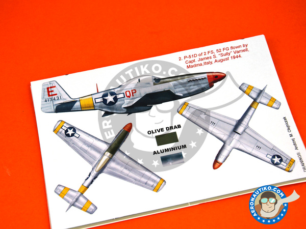 Image 4: North American P-51 Mustang D | Masks in 1/32 scale manufactured by Montex Mask (ref. K32309)