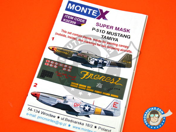 Image 6: North American P-51 Mustang D | Masks in 1/32 scale manufactured by Montex Mask (ref. K32309)