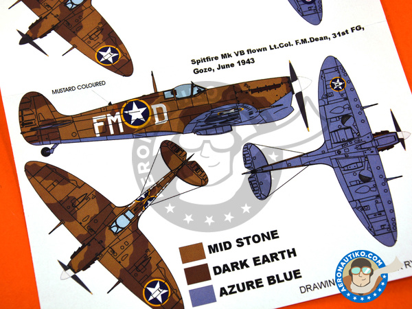 Image 4: Supermarine Spitfire Mk. Vb Trop | Masks in 1/48 scale manufactured by Montex Mask (ref. K48002)