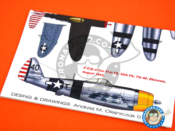 Image 3: Republic P-47 Thunderbolt D Bubble Top | Marking / livery in 1/48 scale manufactured by Montex Mask (ref. K48026)
