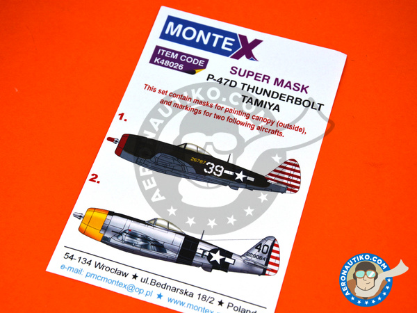 Image 5: Republic P-47 Thunderbolt D Bubble Top | Marking / livery in 1/48 scale manufactured by Montex Mask (ref. K48026)