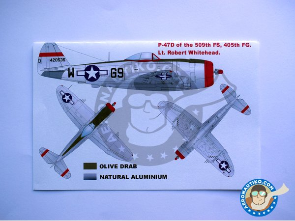 Image 4: Republic P-47D Thunderbolt | Masks in 1/48 scale manufactured by Montex Mask (ref. K48059)