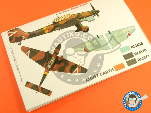 Image 3: Junkers Ju-87 Stuka B-2 | Masks in 1/48 scale manufactured by Montex Mask (ref. K48211)