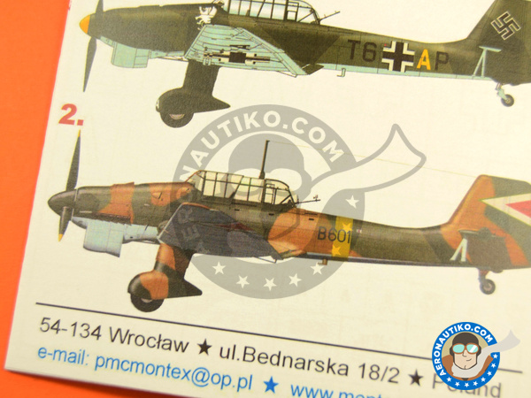 Image 5: Junkers Ju-87 Stuka B-2 | Masks in 1/48 scale manufactured by Montex Mask (ref. K48211)