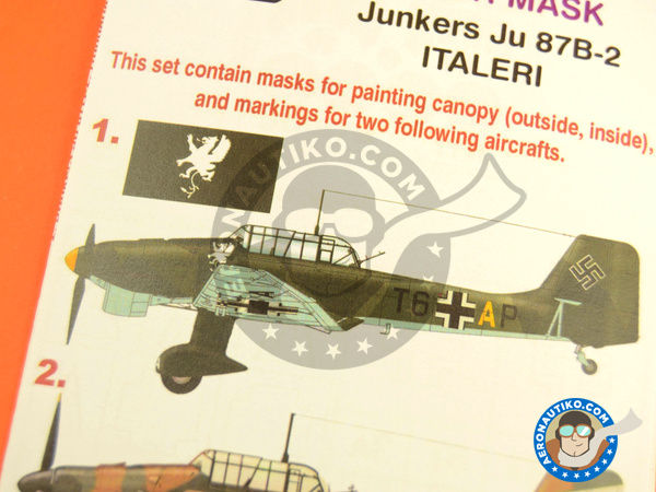 Image 6: Junkers Ju-87 Stuka B-2 | Masks in 1/48 scale manufactured by Montex Mask (ref. K48211)