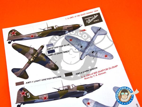 Image 5: Ilyushin IL-2 Shturmovik IL-2M3 | Masks in 1/48 scale manufactured by Montex Mask (ref.K48295)