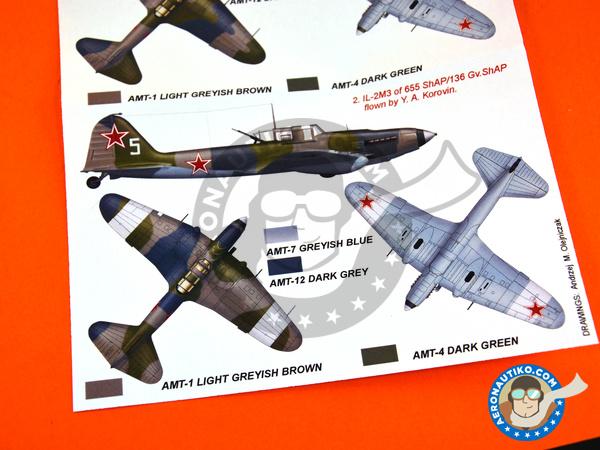 Image 6: Ilyushin IL-2 Shturmovik IL-2M3 | Masks in 1/48 scale manufactured by Montex Mask (ref.K48295)