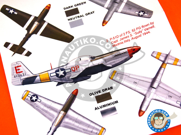 Image 6: North American P-51 Mustang D | Masks in 1/48 scale manufactured by Montex Mask (ref. K48298)
