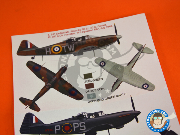 Image 5: Boulton Paul Defiant Mk I | Marking / livery in 1/48 scale manufactured by Montex Mask (ref. K48315)