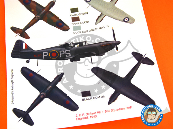 Image 6: Boulton Paul Defiant Mk I | Marking / livery in 1/48 scale manufactured by Montex Mask (ref. K48315)