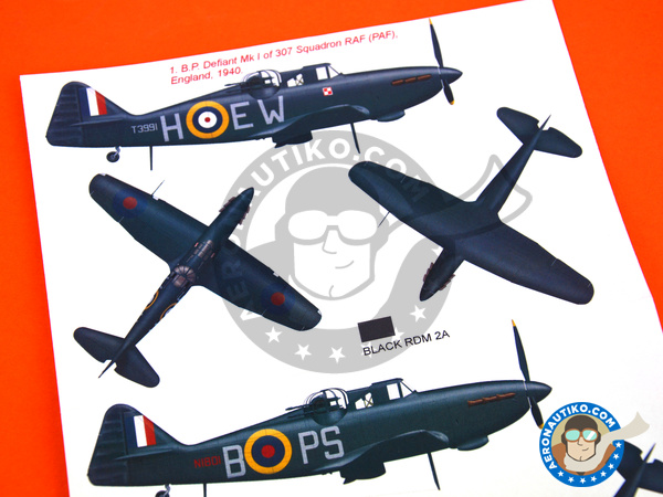 Image 6: Boulton Paul Defiant Mk I | Marking / livery in 1/48 scale manufactured by Montex Mask (ref.K48316)