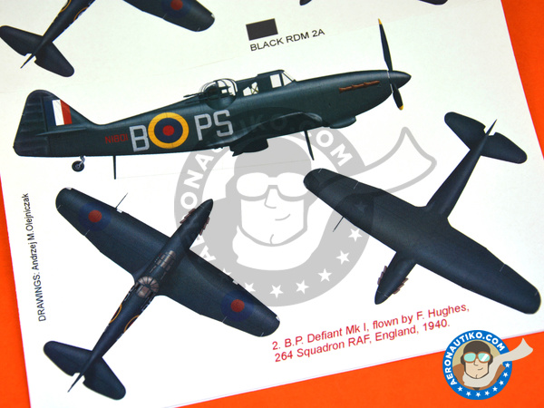 Image 7: Boulton Paul Defiant Mk I | Marking / livery in 1/48 scale manufactured by Montex Mask (ref.K48316)