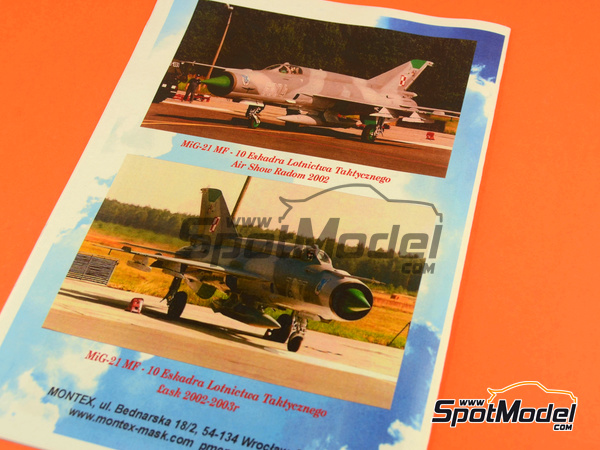 Image 4: Mikoyan-Gurevich MiG-21 Fishbed MF | Masks in 1/72 scale manufactured by Montex Mask (ref. MD7201)