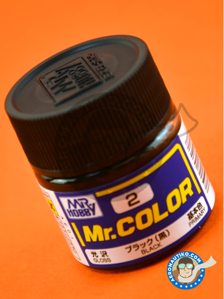 Negro | Mr Color paint manufactured by Mr Hobby (ref. C002) image