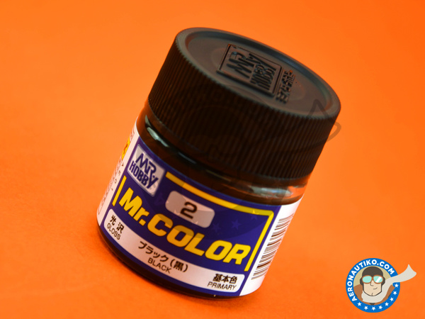 Image 1: Negro | Mr Color paint manufactured by Mr Hobby (ref.C002)