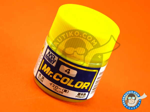 Image 1: Yellow | Mr Color paint manufactured by Mr Hobby (ref. C004)