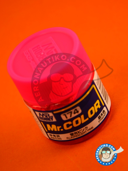Fluorescent pink | Mr Color paint manufactured by Mr Hobby (ref. C174) image