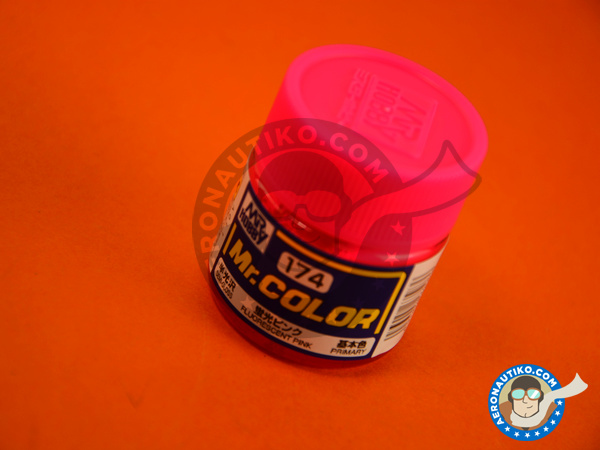 Image 1: Fluorescent pink | Mr Color paint manufactured by Mr Hobby (ref.C174)