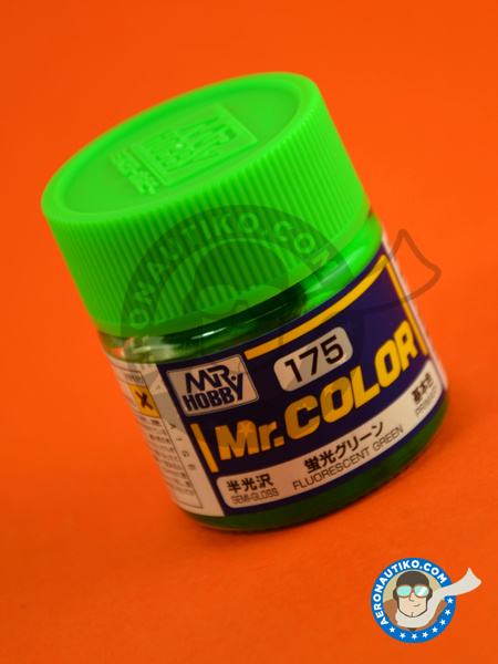 Fluorescent green | Mr Color paint manufactured by Mr Hobby (ref. C175) image