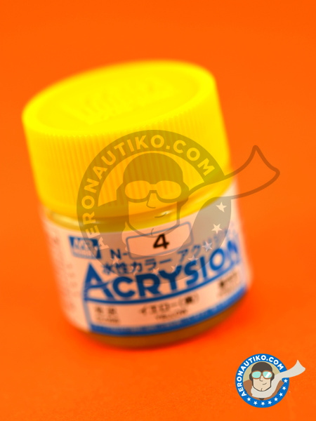 Yellow gloss | Acrysion Color paint manufactured by Mr Hobby (ref. N-004) image