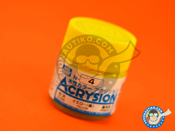 Image 1: Yellow gloss | Acrysion Color paint manufactured by Mr Hobby (ref. N-004)