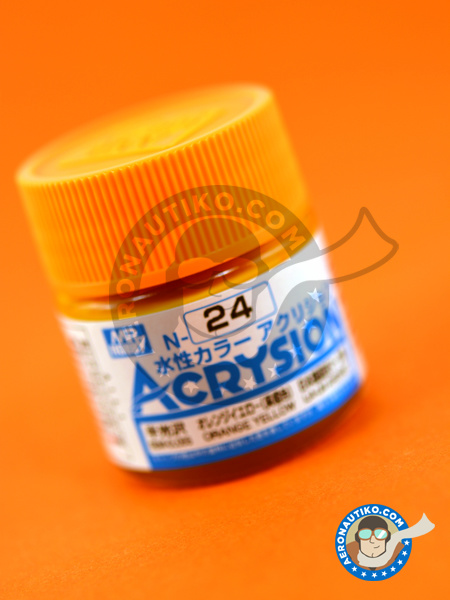 Orange yellow | Acrysion Color paint manufactured by Mr Hobby (ref.N-024) image