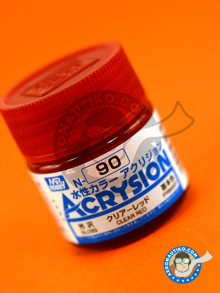 Clear red | Acrysion Color paint manufactured by Mr Hobby (ref. N-090) image
