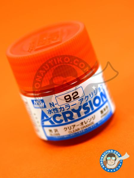 Clear orange | Acrysion Color paint manufactured by Mr Hobby (ref. N-092) image