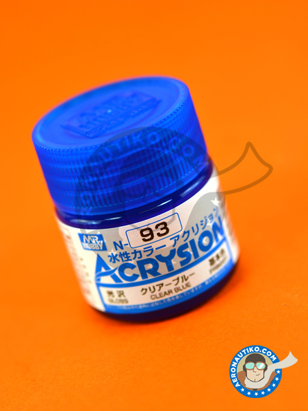 Clear blue | Acrysion Color paint manufactured by Mr Hobby (ref. N-093) image