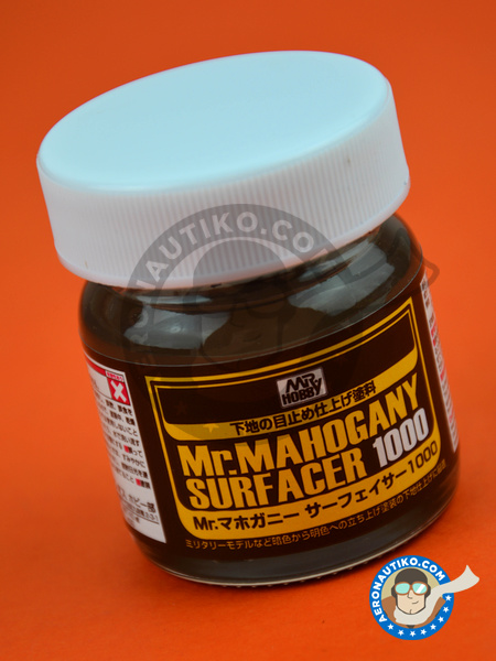 Mr. Mahogany Surfacer 1000 | Primer manufactured by Mr Hobby (ref.SF-290) image