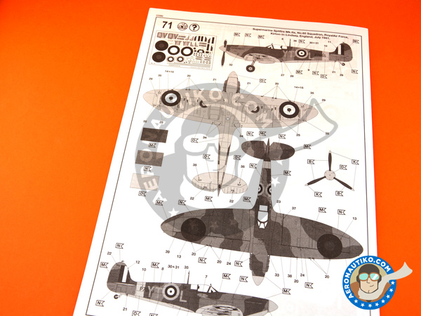 Image 9: Supermarine Spitfire Mk. IIa | Airplane kit in 1/32 scale manufactured by Revell (ref. REV03986)