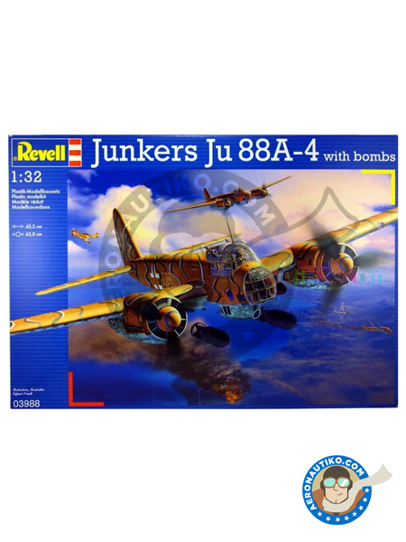 Junkers Ju-88 A-4 | Airplane kit in 1/32 scale manufactured by Revell (ref. REV03988) image