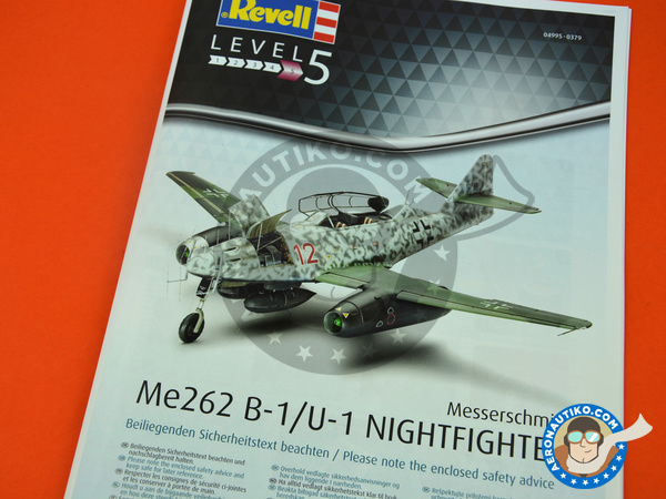 Image 12: Messerschmitt Me 262 Schwalbe B-1 Nightfighter | Airplane kit in 1/32 scale manufactured by Revell (ref. REV04995)