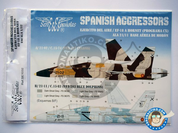 "Image 1: McDonnell Douglas EF-18 Hornet ""Spanish Aggressors"". New 2018 