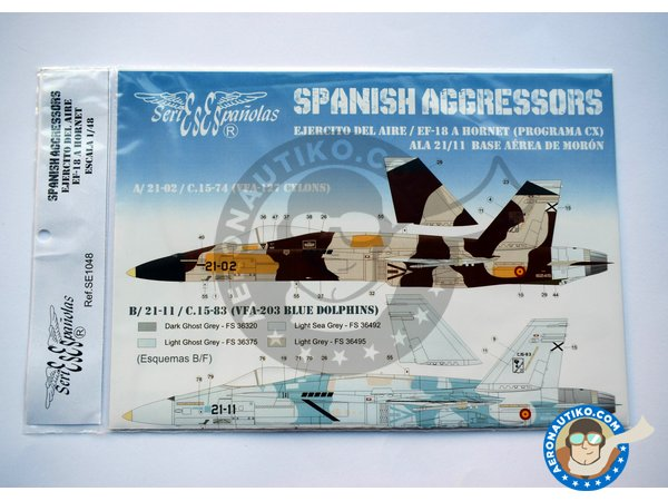 Image 1: McDonnell Douglas EF-18 Hornet A | Marking / livery in 1/48 scale manufactured by Series Españolas (ref. SE1048)