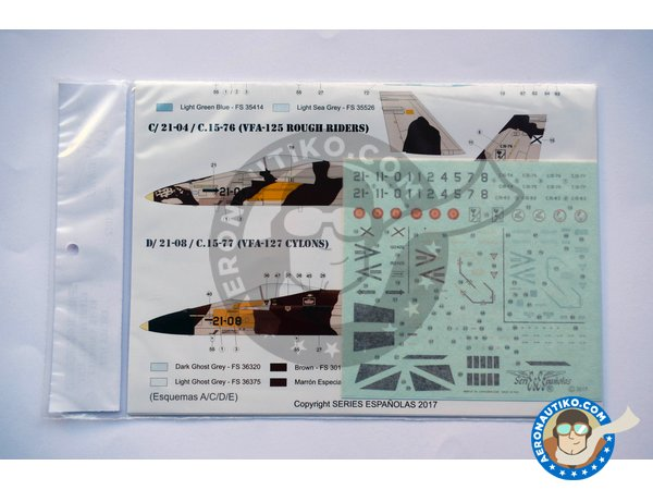 Image 2: McDonnell Douglas EF-18 Hornet A | Marking / livery in 1/72 scale manufactured by Series Españolas (ref. SE1072)