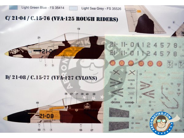 Image 4: McDonnell Douglas EF-18 Hornet A | Marking / livery in 1/72 scale manufactured by Series Españolas (ref. SE1072)