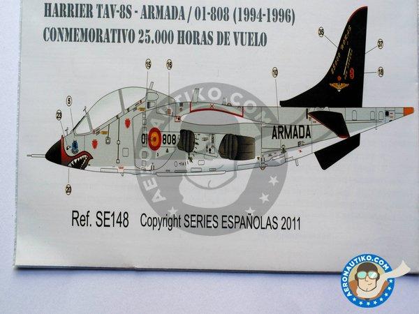 "Image 4: McDonnell Douglas AV-8S, TAV-8S ""MATADOR"" | Marking / livery in 1/48 scale manufactured by Series Españolas (ref.SE148)"